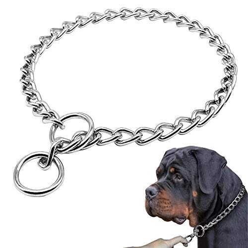 Freezx Dog Choke Collar Slip P Chain Heavy Chain Dog Titan Training Choke Collars Adjustable Stainless Steel Chain Dog Collars Covered With Galvanic Plating Best For Small Medium Large Dogs