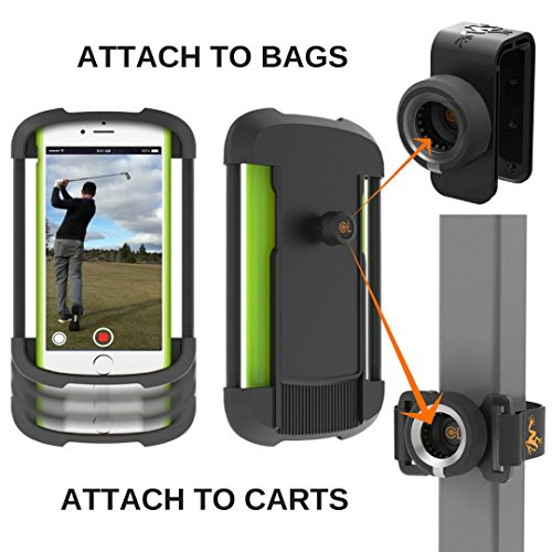 "Frogger Golf Record Golf Swing Phone Latch It Universal Smart Phone Holder Attachment To Golf Bags And Golf Carts | Part Of The 2017 Pga Merchandise Show ""best Latch It Ecosystem"