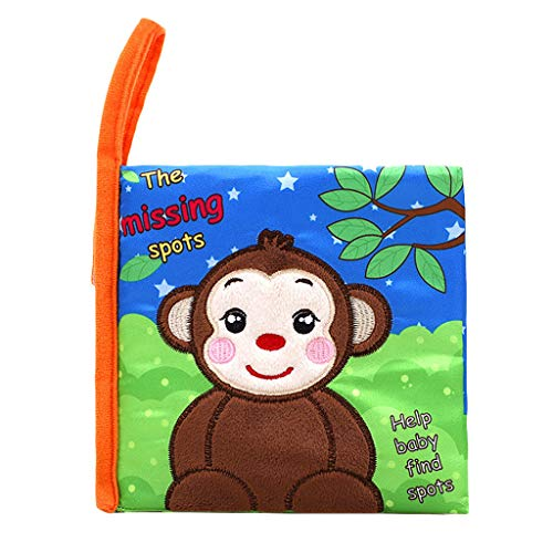 Gbell Baby Books Soft Cloth Books,baby Lovely Animal Soft Activity Cloth Book Baby Toy Cloth Development Bb Sound Books Baby Best Cloth Book
