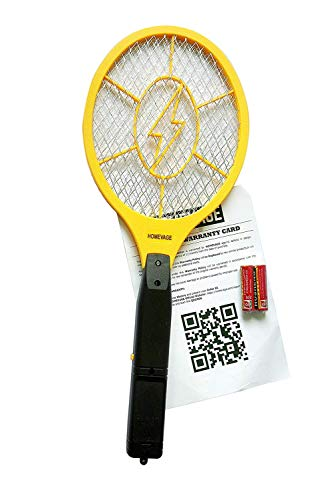 Homevage Electric Fly Swatter Bug Zapper Best High Voltage Handheld Mosquito Killer Wasp, Fruit Fly, Insect Trap Racket For Indoor, Travel, Camping And Outdoor Control (2 Aa Batteries Included)