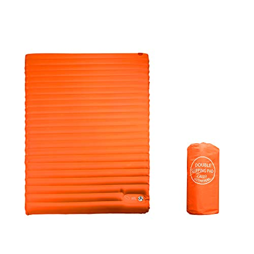 Lazzo Double Sleeping Pad Mat,ultralight 1800g/63.5oz,best Sleeping Pads For Camping,hiking,backpacking,tent.inflates In Just 7minutes.(orange)