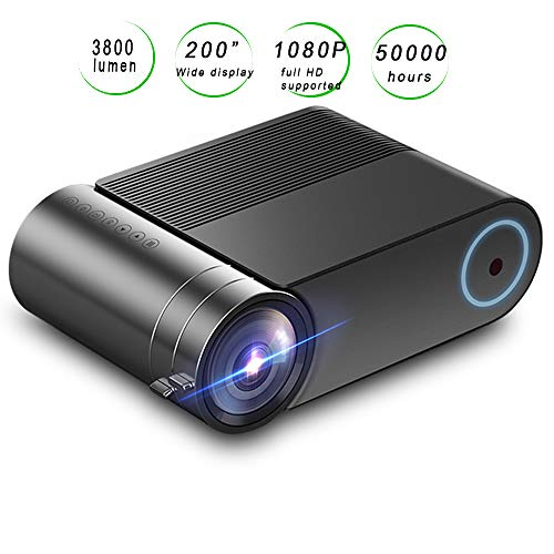 """Limerenc Yg420 Mini Video Projector,wifi Smart Phone Connection 1080p Full Hd 3800 Lux 200"""" Lcd Video Projector For Home,business,outdoor . Best Gift."""