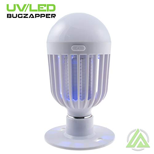 Litezall Bug Zapper Light Bulb 2 In 1 Portable Led Light & Bug Killer Best For Indoor Or Outdoor Use Small Or Large Insect, Mosquito & Fly Bug Zapper Bulb 3 Aaa Batteries Included