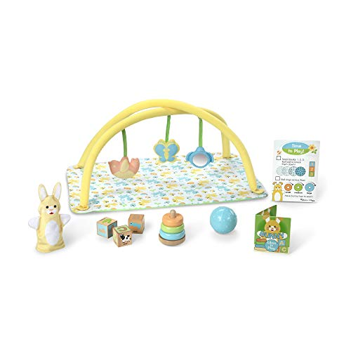 Melissa & Doug Mine To Love Toy Time Play Set For Dolls (16 Pieces, Activity Gym, Stacker, Blocks, More, Great Gift For Girls And Boys Best For Babies And Toddlers, 4 Month Olds, 1 And 2 Year Olds)