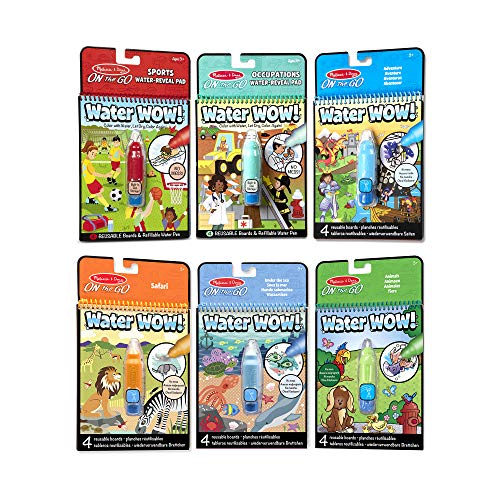 Melissa & Doug On The Go Water Wow! 6 Pack (sports, Occupations, Safari)