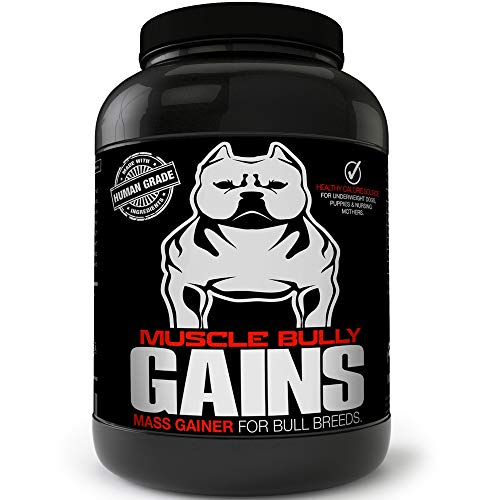 Muscle Bully Gains Mass Weight Gainer, Whey Protein For Dogs (bull Breeds, Pit Bulls, Bullies) Increase Healthy Natural Weight, Made In The Usa (194 Servings (best Value))