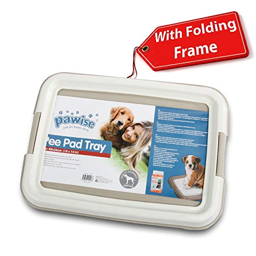"""Pawise Pee Pad Holder Puppy Training Pads Best Portable Potty Trainer Indoor Dog Potty Puppy Essentials Dog Training Holder Puppy Pad Holder (19.2""""x14"""")"""