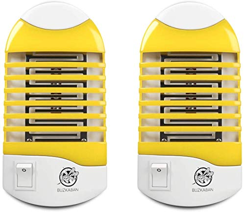 Sobaken Mosquito Zapper Electronic Fly Killer Indoor Bug Zapper And Insect Killer Best Gnat Trap 2 Pack Yellow Color