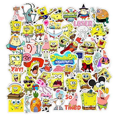 Spongebob Squarepants Stickers,vinyl Sticker For Laptop Water Bottle Guitar Bike Car Motorcycle Bumper Luggage Skateboard Graffiti, Cute Decals, Best Gift For Kids,children,teen(50pcs)