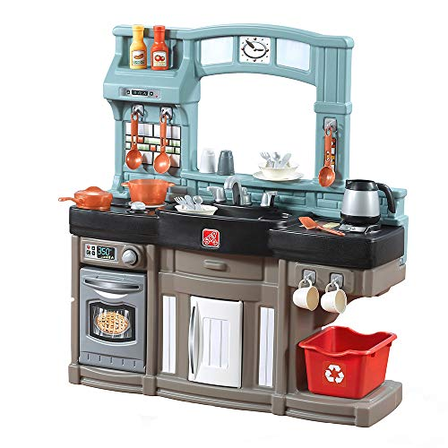 Step2 Best Chefs Kitchen Playset | Kids Play Kitchen With 25 Pc Toy Accessories Set | Real Lights & Sounds