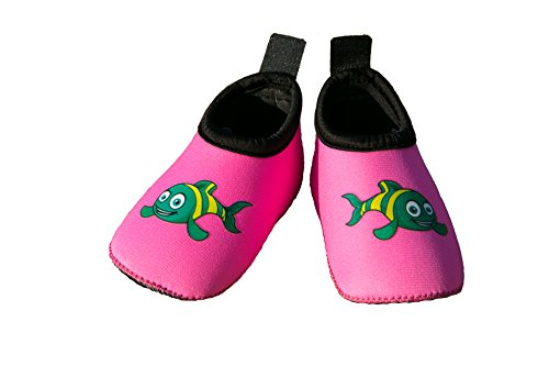 Swim Buddies Baby Swim Shoes The Best Water Shoes For Beach, Pool, Lake Toddler Aqua Socks Lightweight & Durable Swimming Shoes (pink, S (6 12 Months, Sole Length 4.5 Inches))