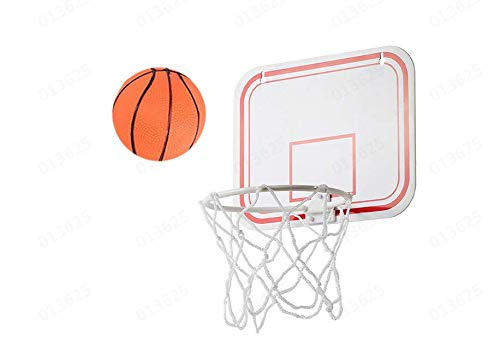 Uwovp E Plastic Basketball Hoop Game For Kids And Adults Includes 1 Mini Ball 1 Back Board Net Hanging Stickers Indoor Basketball Set For Home Office Bedroom Best Gift For Boys And Girls