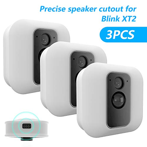 [3 Pack] Silicone Skin For Blink Xt/xt2 Security Camera Mofad Silicone Case For Brink Home Security Anti Scratch Protective Cover For Full Protection Indoor Outdoor Best Home Accessories (white)