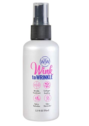 All In One Wrinkle Release Spray For Clothes Travel Size,wink To Wrinkle Best Wrinkle Treatment,odor Eliminator,refresher,anti Bacterial,collagen Coating,everyday Use Iron Free Wrinkle Release(95ml)
