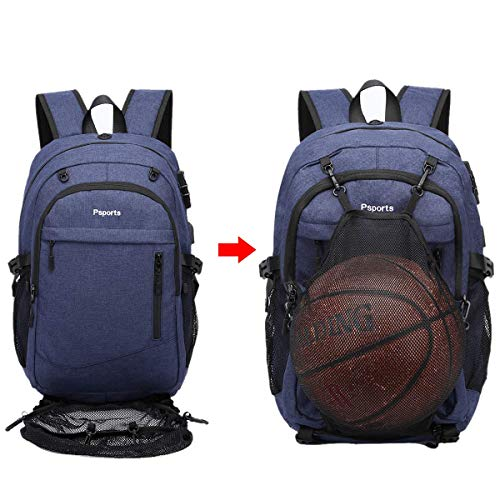 Basketball Backpack, Large Sports Bag For Men Women, With Usb/earbud Hole, Best Soccer Baseball Outdoor Gym, College School Student Backpack, Lightweight Anti Theft Backpack, Fit 17.3 Laptop (blue)