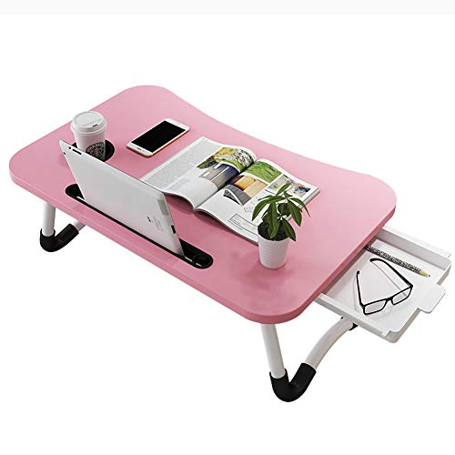 Bed Tray Table, Laptop Stand Computer Desk Folding Table,breakfast Tray Reading Stand Desk For Bed/sofa/desk Best Gift,pink