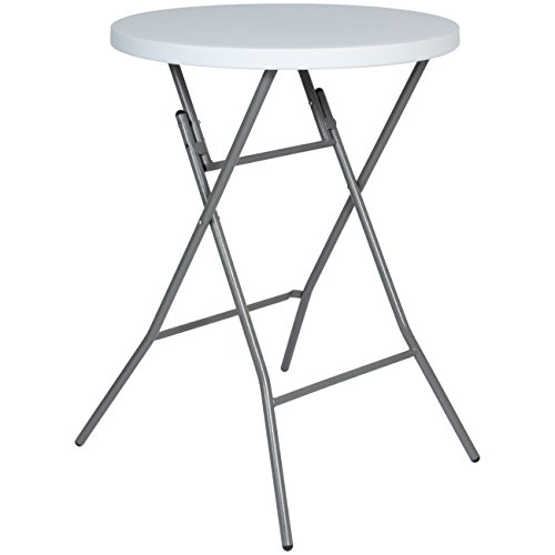 Best Choice Products 32in Indoor/outdoor Commercial Grade Round Bar Height Folding Table