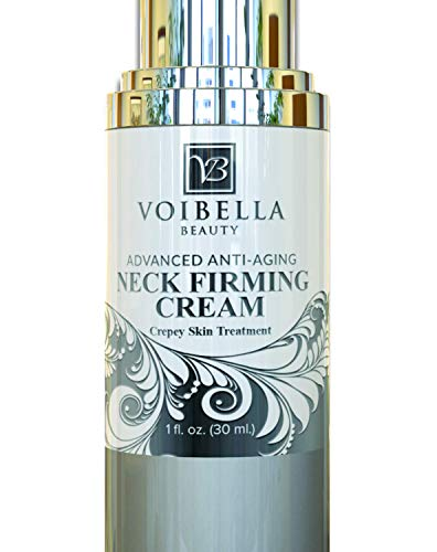 Best Neck & Chest Firming Cream For Sagging, Crepey Skin & Wrinkles. Anti Aging Crepe Eraser, Turkey Neck Tightener & Decolletage Lotion. Works For Tightening Decollete, Double Chin, Arms, Body & Face