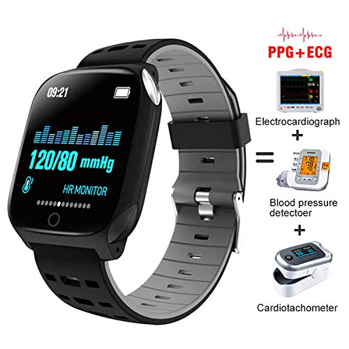 Bluebone Smart Watch, Fitness Tracker With Blood Pressure Heart Rate Sleep Monitor Pedometer Bracelet Inteligente Reminder Stopwatch Smartwatch With Ios Android Phone Best Gift For Men Women (black)