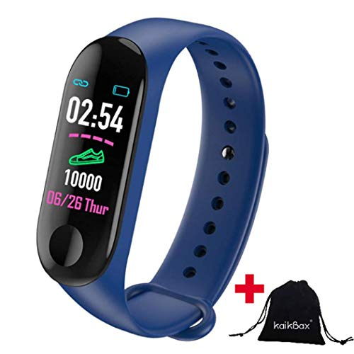 Boboling Blue Smart Watch Fitness Tracker With Heart Rate Monitor Waterproof Step Counter Pedometer Smart Band Wristbands Bracelet For Women Men Kids Best Qualityshop
