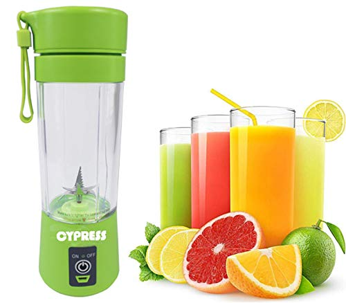Cypress, Smart Portable Usb Rechargeable Blender/mixer Smoothie/baby Food Mixing Machine Maximum Capacity 380 Milliliter, Best For Travel, Home And Personal Use (green)
