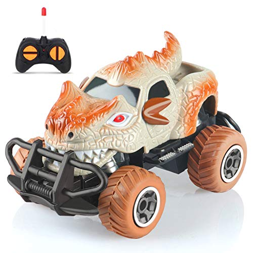 Dinosaur Toys For 3 6 Year Old Boys Remote Control Dinosaur Car With 9mph Max Speed, Remote Control Truck For Boys Toys Age 3 6 Best Gifts Car Toy