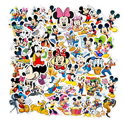 Disney Animation Themed Set Sticker, Mickey Mouse And Donacdduck Stickers For Kids,laptop Hydro Flask Water Bottle Guitar Helmet Skateboard Luggage Bike Bumper,best Gift For Kids Teen(50 Pieces)