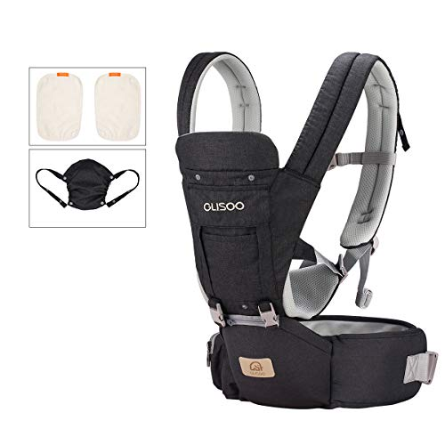 Ergonomic 360° Best Baby Soft Carrier, Comfortable Adjustable Positions,breastfeeding Fits All Newborn Toddler,hipseat Infant And Backpack,all Seasons,perfect For Hiking Shopping (dark Gray)