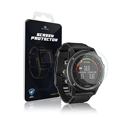 Exinoz Garmin Fenix3 Screen Protector I Protection With 1 Year Replacement Warranty I Get The Best For Your Garmin Fenix3 Smart Watch