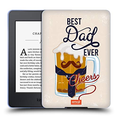 Head Case Designs Officially Licensed By Emoji Best Dad Ever Celebration Cases Soft Gel Case Compatible With Kindle Paperwhite 1/2 / 3