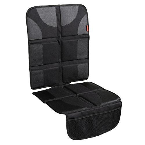 Lusso Gear Car Seat Protector With Thickest Padding Featuring Xl Size (best Coverage Available), Durable, Waterproof 600d Fabric, Pvc Leather Reinforced Corners & 2 Large Pockets For Handy Storage