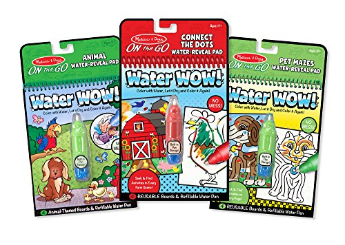 Melissa & Doug On The Go Water Wow! 3 Pack (the Original Reusable Coloring Books Animals, Farm, Pet Mazes Great Gift For Girls And Boys Best For 3, 4, 5, 6, And 7 Year Olds)