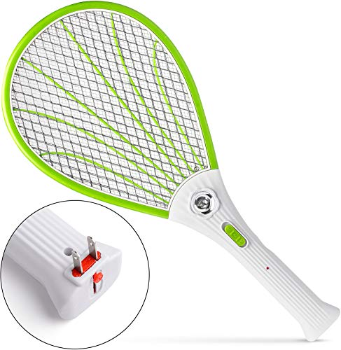 Nikand Electric Gnat Fly Insect Killer Swatter Bug Zapper Racket Light Mosquito Trap Indoor & Outdoor Tennis Racquet Bug Zappers Kill Fruit Flies Electronic Swatters Fly Control Best For Camping