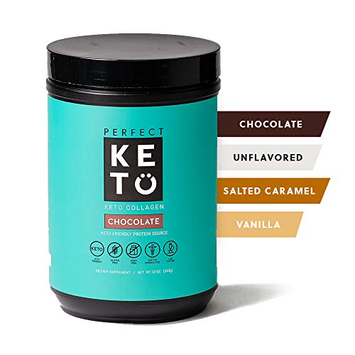Perfect Keto Collagen Peptides Protein Powder With Mct Oil Grassfed, Gf, Multi Supplement, Best For Ketogenic Diets, Use In Coffee, Shakes For Women & Men – Chocolate