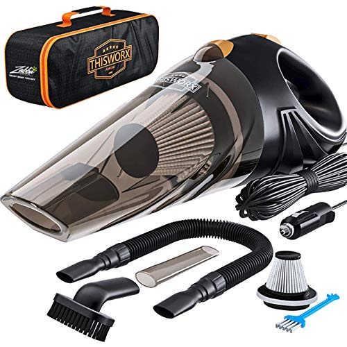 Portable Car Vacuum Cleaner: High Power Corded Handheld Vacuum W/ 16 Foot Cable 12v Best Car & Auto Accessories Kit For Detailing And Cleaning Car Interior