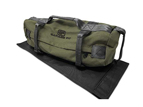 Sandbags For Fitness With Fabric Handles Weighted Power Training Heavy Duty Cordura Construction 8 Gripping Handles Adjustable Exercise Sandbags Best Workout For Raw Power, Balance & Control