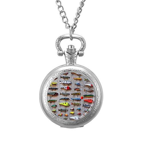 The Best Bait For Fishing Necklace Pocket Watch Chain Gift Pendant Valentine's Day Love