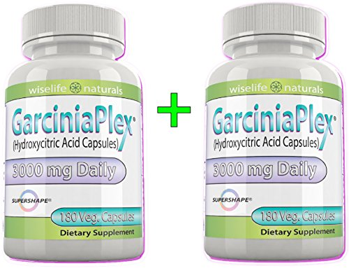 2x Pure Garcinia Cambogia Ultra Slim Extract, 60% Hca, 180 Caps, 1500 Mg 3000mg Daily, 8 Oz All Natural Dr. Recommendations Diet Tips & Best Reviews For how To Burn & Lose Fat Fast Naturally Lower Weight Loss Pills & Cholesterol Support Supplements That Works – Quickly, Safely Slim At Home, 180 Capsules Per Bottle