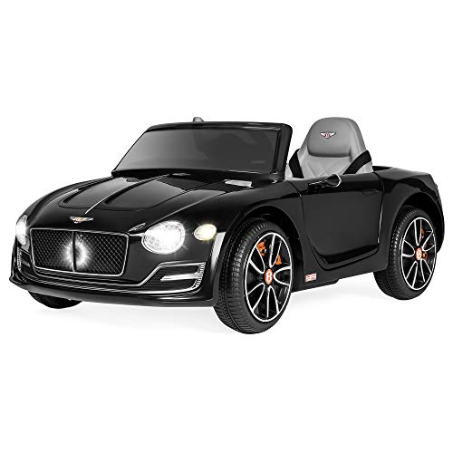 Best Choice Products 12v Kids Bentley Exp 12 Ride On Car W/ Remote Control, Foot Pedal, 2 Speeds, Headlights, Aux Black