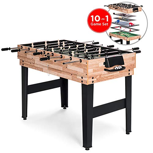 Best Choice Products 2x4ft 10 In 1 Combo Game Table Set W/pool, Foosball, Ping Pong, Hockey, Bowling, Chess, And More