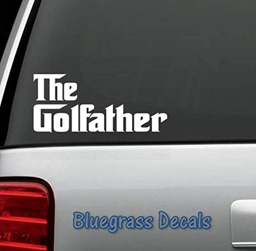 Best Design Amazing Funny Golf Decal Sticker For Car Truck Suv Van Window Or Laptop Golf Cart Driver Iron Putter Tee Glove Bag And Stick Decals Made In Usa