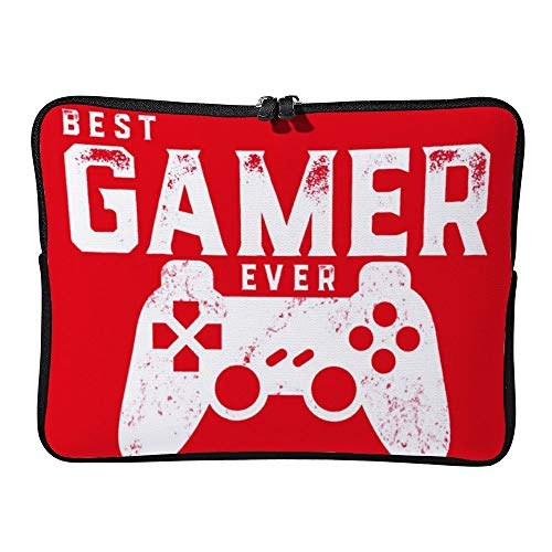 Best Gamer Ever For Video Games Geek 10inch Neoprene Laptop Sleeve Case Protective Computer Cover Portable Carrying Bag Pouch For Notebook