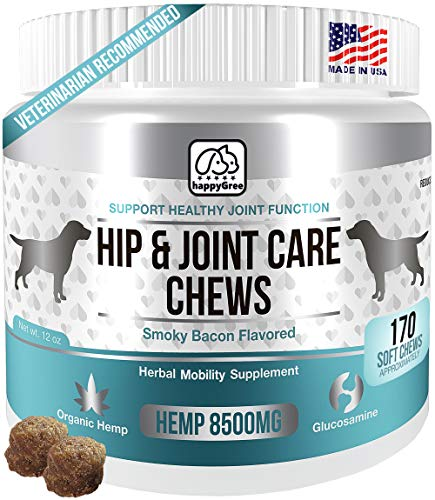Best Hip & Joint Supplements For Dogs: Product Of Usa Natural Pain Relief & Mobility + Аnti Inflammatory And Аnti Arthritic Effects Maximum Strength Glucosamine & Chondroitin Approx 170 Soft Chews