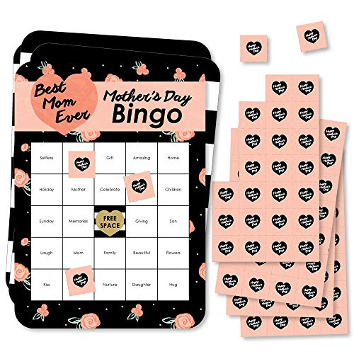Big Dot Of Happiness Best Mom Ever Bingo Cards And Markers Mother's Day Bingo Game Set Of 18