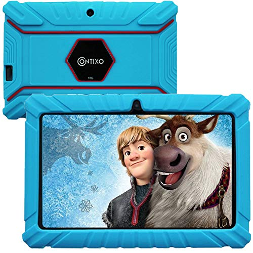 """Contixo V8 2 7"""" Android 16gb Kids Tablet Parental Control Learning Education Apps On Google Certified Playstore Toy Tablet For Kids, Kids Proof, Wifi Camera Best Gift (blue)"""
