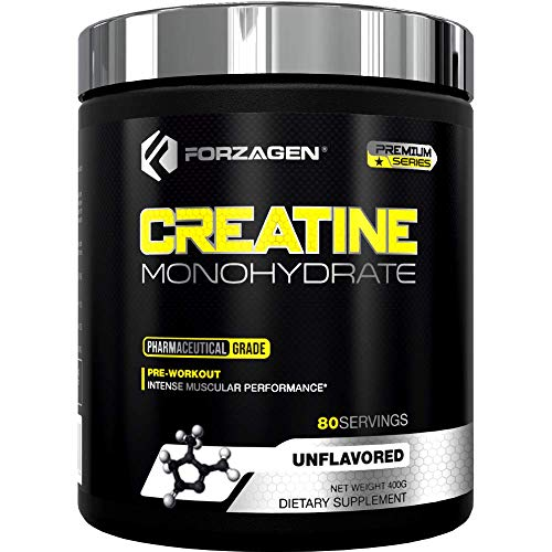 Forzagen Creatine Powder Monohydrate Workout Supplements   No More Pills, Capsules   Best Creatine Unflavored For Muscle Growth Supplements For Men & Women   Organic Creatine Monohydrate
