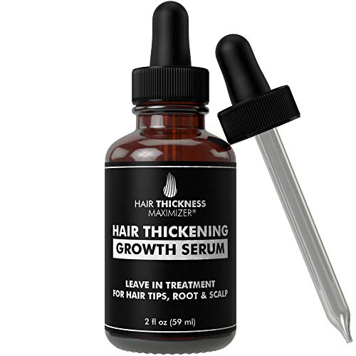 Hair Growth Serum Hair Loss Prevention Treatment By Hair Thickness Maximizer. Best Natural Oils For Thinning Hair. Replenish Hair Follicles For Men, Women. Thickening Leave In Conditioner Serum 2oz