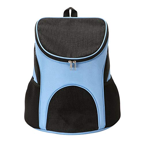 Hbz11hl Interactive Cat Toys丨the Best Entertainment Exercise Gift For Your Cat丨portable Fashion Padded Pet Carrier Backpack Dog Cats Breathable Travel Mesh Bag丨100% Cat Safety Blue L