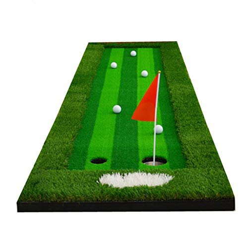 Hitting Mats Golf Mat Golf Mat Golf Practice Net Golf Accessories For Men Indoor Simulator Putter Exercise Give Friends The Best Gift, Easy To Store (color : Green, Size : 753004cm)