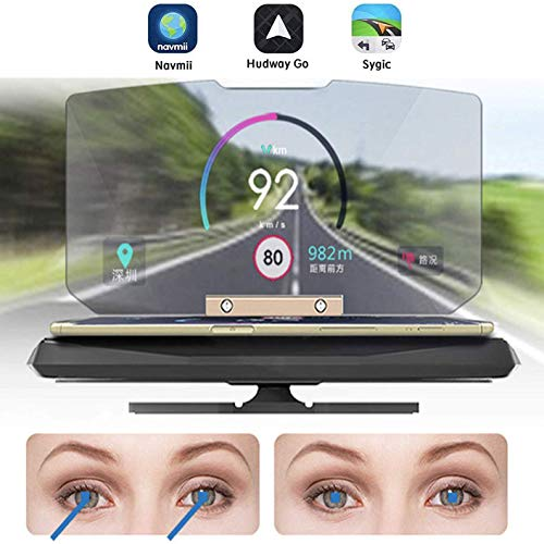 Hudway Drive The Best Head Up Display For Any Car Smartphone Mount Navigation System Universal Compatibility Including Ios And Android Devices